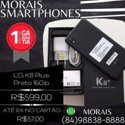 LG K8 Plus 16Gb Preto Fosco (APARELHO COM NOTA FISCAL+GARANTIA DE 12 MESES DE FÁBRICA)