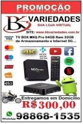 Smart Tv Box Mx9 Pro 4GB Ram e 32 GB - Entrega Grátis