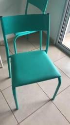 Mesa branca e cadeiras Tok stok