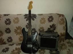 Vendo guitarra giannini com caixa amplificadora