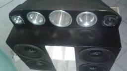 Caixa de som no estado de conservação