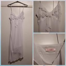 Vestido longuete branco da Verty tamanho M