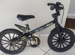 Bicicleta Infantil Batman Aro 16 Bandeirante Preto