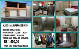 Alugo Casa de Luxo na Maraponga , 03 Quartos ,Closet e Porcelanato : Paulo *