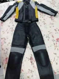 Conjunto Jaqueta e Calça Couro Bannypel (moto)
