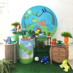 Kit mini Table decoração completa Dinossauros Baby
