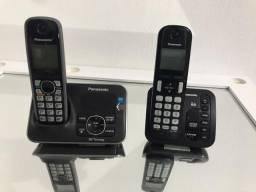 Vendo 2 aparelhos de telefone sem fio com secretária eletrônica