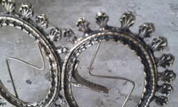 Antigo Porta Retrato Duplo de Bronze - Porto Alegre/RS