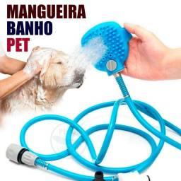 Chuveirinho mangueira banho pet cachorro e gato