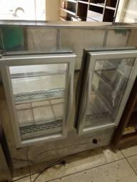 Vende-se estufas grandes inox e madeira