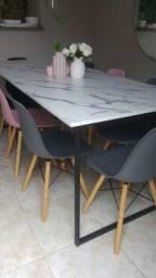 Mesa jantar c 8 cadeiras