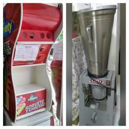 Máquina de sorvete e milk-shake