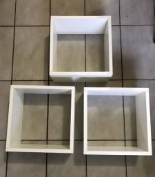 3 nichos de 30x30x20cm mdf