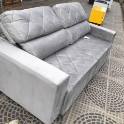 Sofá Retrátil e Reclinável lindo cinza