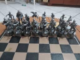 Jogo de xadrez star wars saga edition chess set parker Brothers 2004