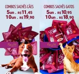 Combo Sachês Granplus para cães e gatos sabores variados a partir de R$1,89