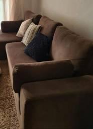 Sofá com chaise em perfeito estado
