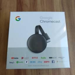 Google Chromecast 3ª Geração Full HD carvão Lacrado