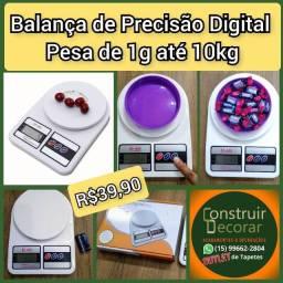Balança de Alta Precisão Digital Pesa De 1 Grama Até 10 Kg