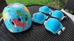 Kit capacete + Cotoveleira + Joelheira Infantil