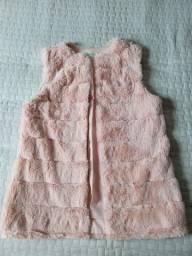 Colete feminino pêlos rosa FLECHE D'OR