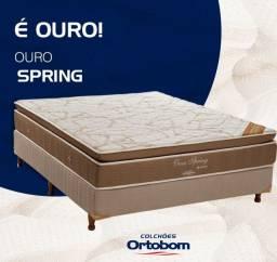 Cama Super King Ortobom Ouro Spring