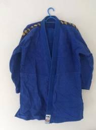 Kimono Judo oficial CBJ azul adulto unissex tamanho A2