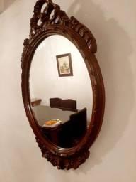 2 espelhos cerejeira talhada