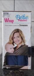 Wrap sling bebê passeio - azul Novo
