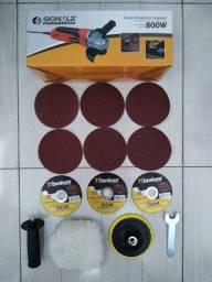Título do anúncio: Esmerilhadeira/Lixadeira Schulz 800W 110vts com 11 peças.
