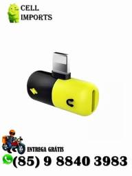 Título do anúncio: Adaptador Lightning Carregador/Fone Iphone 7