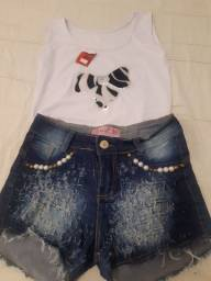 Regata nova + short jeans