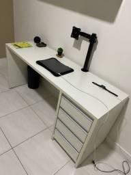 Mesa em MDF PURO - 1,50x50 (Branca) + Suporte Monitor