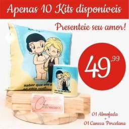 Kit Namorados, Dia dos namorados, Presente Namorados Caneca Porcelana