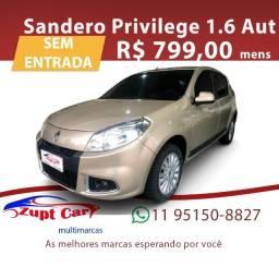 Título do anúncio: Sandero 2012/2013 1.6 Privilége 16V Flex 4P Automático