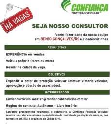 Título do anúncio: Vaga Vendedor/Consultor na cidade de Bento Gonçalves - RS