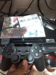 Título do anúncio: V/t ps2 destravado com HD de 500 com jogos