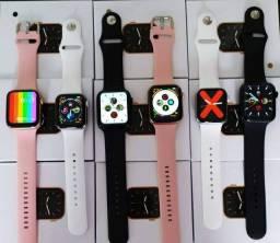Grande oportunidade smartwatch t500 série 5 + pulseira de aço de brinde