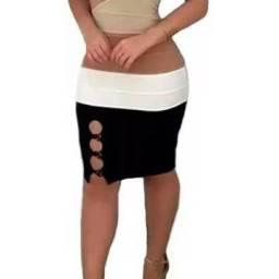 Lindo vestido tricô alça trançada