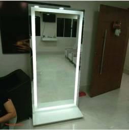 Espelho para camarim com base