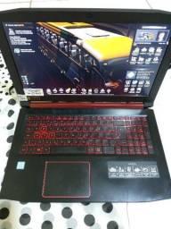 Notebook gamer acer nitro 5 i 5 de 7 geração ram 8gb placa 4 gb nf e garantia LEIA