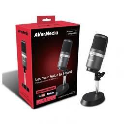 Título do anúncio: Microfone Condensador Profissional Avermedia Am310- Pc E Mac novo Promoção R$ 499,00