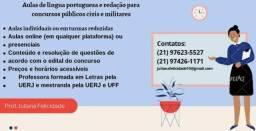Aulas de língua portuguesa e redação para concursos