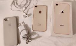 iPhone 8 256G Rose Gold com capinha da iPhone de brinde