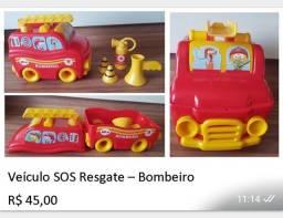 Carrinho SOS Resgate - Bombeiro