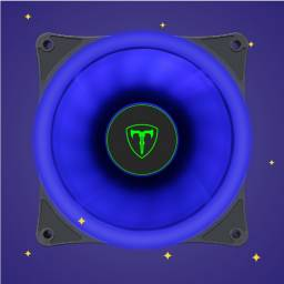 Título do anúncio: Fan RGB Azul 120MM - T-Dagger T-TGF200B