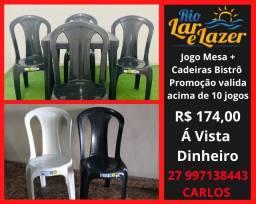 Conjunto Mesa e Cadeira Plástica Bistrô