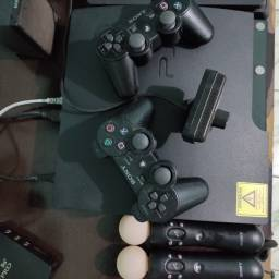 PS3 completo + DVD's com Jogos + Bolsa de Transporte