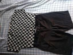 Conjunto camisa e bermuda social