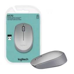 Título do anúncio:  Mouse Logitech M170 Sem Fio - cor: Prata Novo